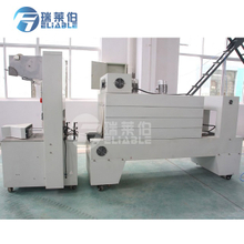 Semi-auto Roll PE Film Plastic Bottle Wrapping Packing Machine with Heating Shrink Tunnel